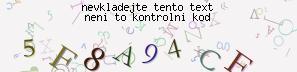 Tento obrázek obsahuje skrytý text, je použita kombinace barev, velikostí písma, pozadí a úhlů k znemožnění přečtení tohoto kódu automatickými čtečkami. Musíte zapsat největší 3 znaky do pole Vložte kód.