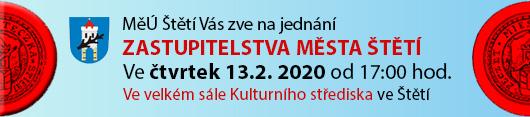 P O Z V Á N K A na jednání Zastupitelstva Města Štětí, které se bude konat ve čtvrtek dne 13.2.2020 od 17:00 hodin ve velkém sále Kulturního střediska ve Štětí