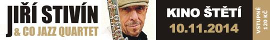 Ji�� Stiv�n & Co Jazz Quartet, 10.11.2014 Kino �t� [nov� okno]