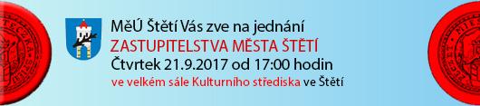 Město Štětí Vás zve na jednání Zastupitelstva Města Štětí, které se bude konat ve čtvrtek dne 21.9.2017 od 17:00 hodin ve velkém sále Kulturního střediska ve Štětí