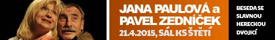 Pavel Zedn��ek a Jana Paulov�, 21.4.2015 S�l KS �t [nov� okno]