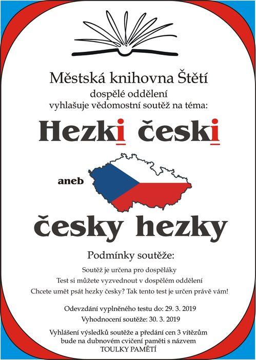 Vědomostní soutěž: Hezki česki aneb česky hezky